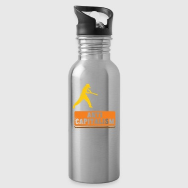 Anti Capitalism communism gift idea christmas - Water Bottle