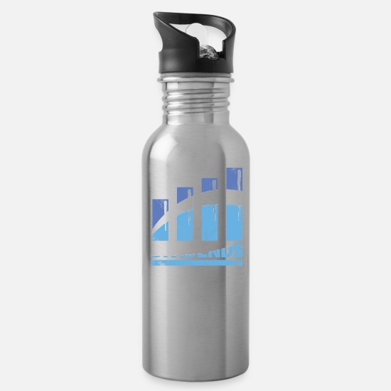 Income Mugs & Drinkware - Dividends Stock market investor christmas - Water Bottle silver