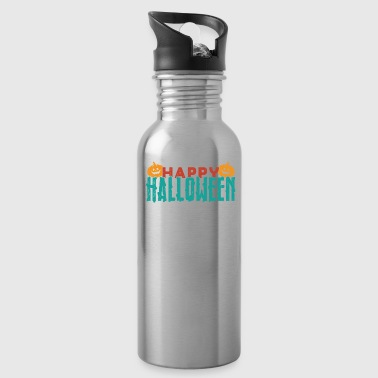 Happy Halloween funny quote gift death - Water Bottle