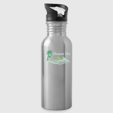 Oceanlife surf captain boat beach wind - Water Bottle