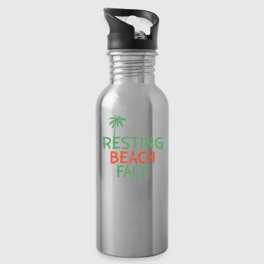 Resting Beach Face Holiday Funny Quote - Water Bottle
