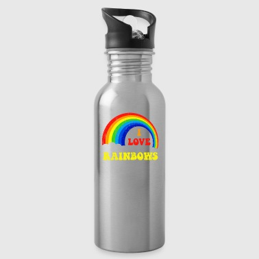 I Love Rainbows Statement gift kids christmas - Water Bottle