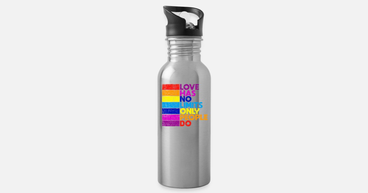 Love Has No Limits Only People Do Pride Quote Water Bottle