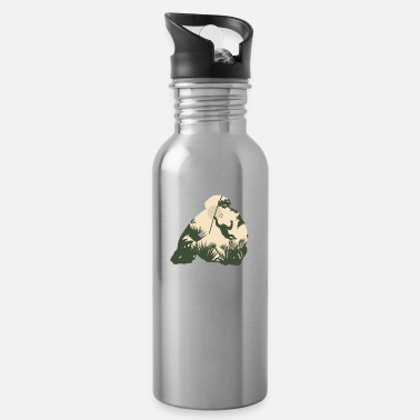 Love Monkey Gorilla Gift Christmas Birthday Kids Jungle - Water Bottle