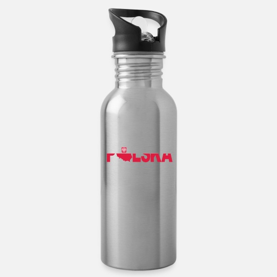 Birthday Mugs & Drinkware - Polska - Water Bottle silver