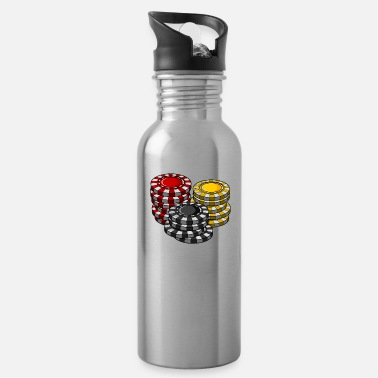 Holdem I'm Just Here For The Pot Holdem Poker Geschenk - Water Bottle