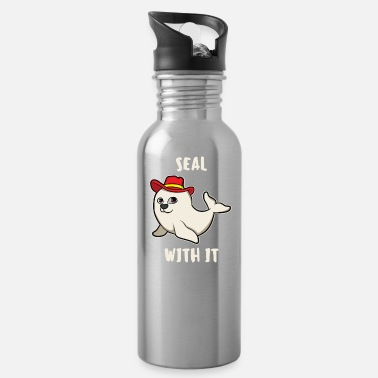 Marine Seal With It Seal Seal Seal Sea Lion Gift - Water Bottle