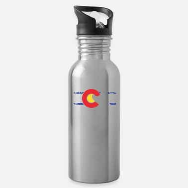 Whitewater Kayaking Colorado Flag Whitewater Kayak Colorado kayak - Water Bottle