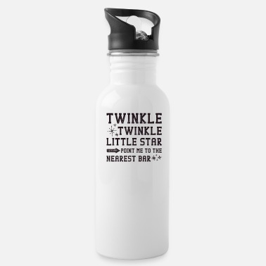 Little Twinkle Twinkle little Star Point Me To The Bar - Water Bottle