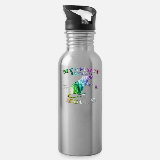 Gift Idea Mugs & Drinkware - Mouse - Water Bottle silver