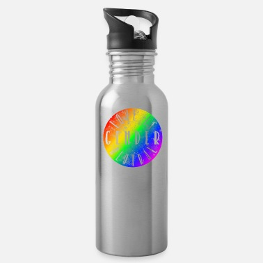 Triangle Love is gender neutral LGBT Gay Pride CSD - Water Bottle