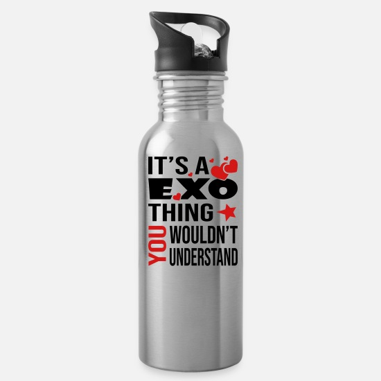 Kpop Mugs & Drinkware - You Wouldn't Understand Exo - Water Bottle silver