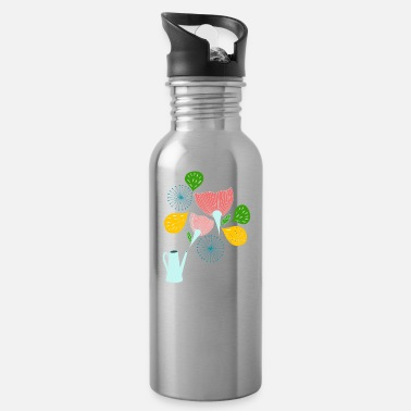 Folklore Scandinavian Folklore Flowers I Floral Gift - Water Bottle