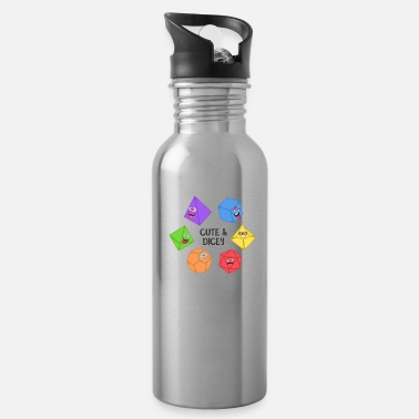 Polyhedral Dice Set Cute and Dicey Tabletop RPG - Water Bottle