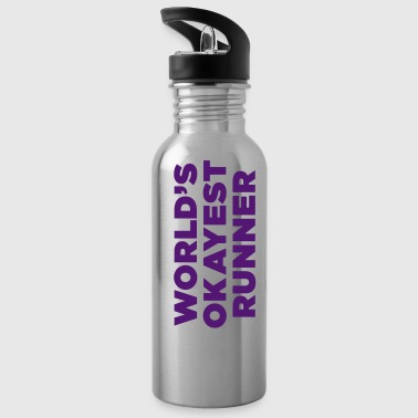 World's Okayest Runner - Water Bottle