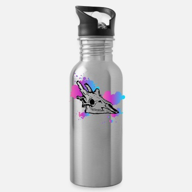 Giraffe Vapor Skull Design - Water Bottle