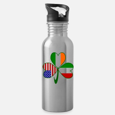 Italian Italian Irish American Shamrock - Water Bottle