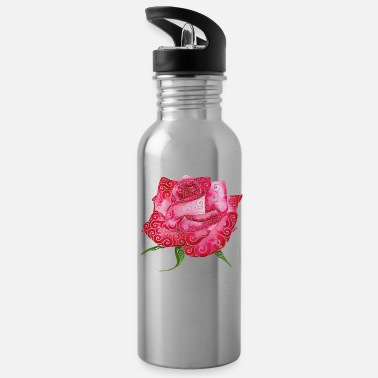 Different Swirly Rose - Water Bottle