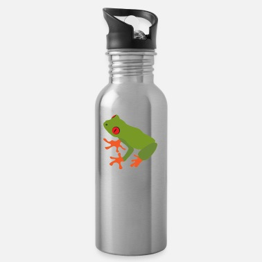 Tree Collection of green tree frogs - Water Bottle