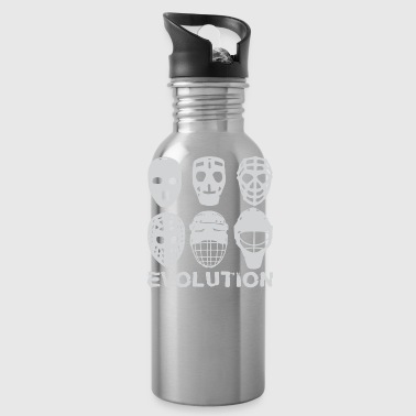 hockey goalie mask evolution - Water Bottle