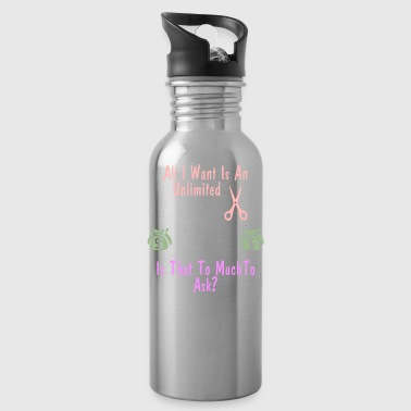 Funny SCrapbooking Shirt Unlimited Scrapbooking - Water Bottle