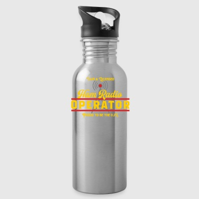 I Am A Licensed Ham Radio Operator - Water Bottle