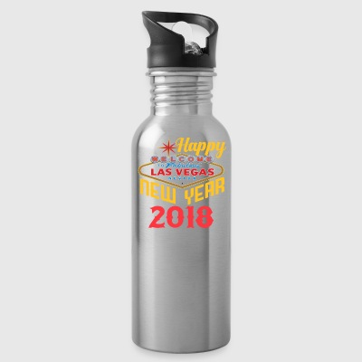 Las Vegas Happy New Year 2018 T Shirt - Water Bottle