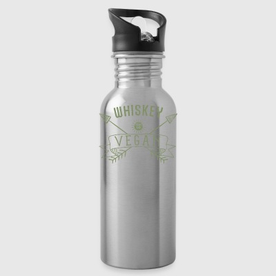 Whiskey Is Vegan Drinking Quote Gift - Water Bottle
