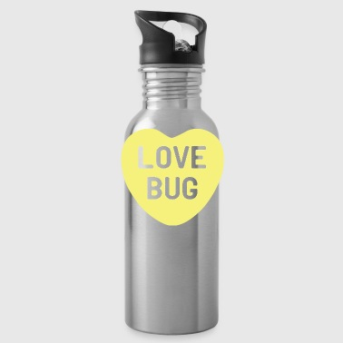Love Bug Yellow Candy Heart - Water Bottle