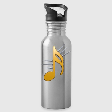 music note with spikes - Water Bottle