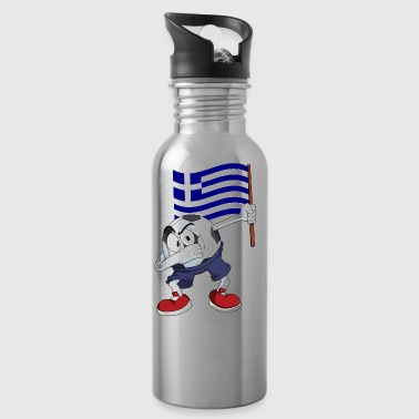 Greece Dabbing Soccer Ball - Water Bottle