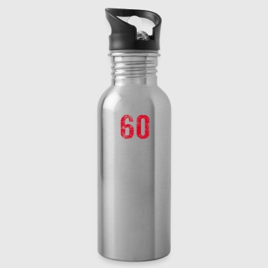 60th Birthday Funny Gift Idea Shirt distressed - Water Bottle