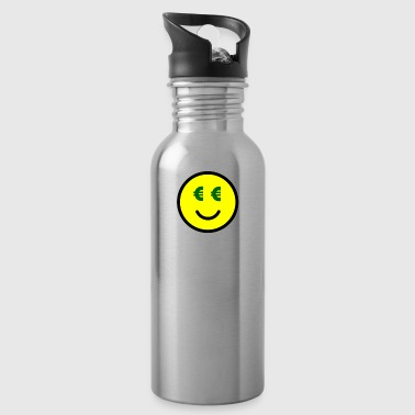 Smiley with Euro-Eyes Gift Idea - Water Bottle