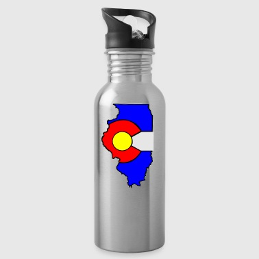 Colorado Flag Illinois State - Water Bottle