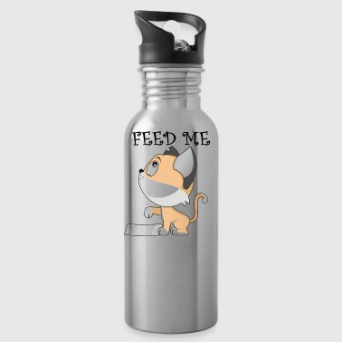 FEED ME - cute gift for cat lover - Water Bottle