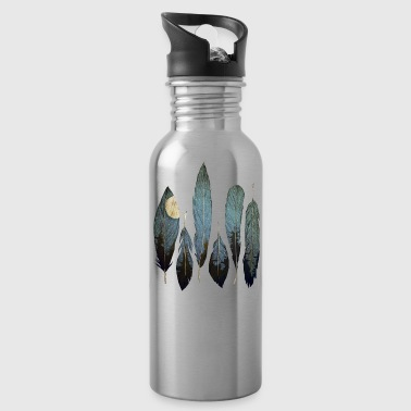 feathers - Water Bottle