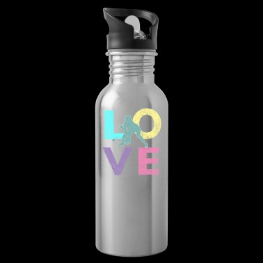 Awesome Softball LOVE Design for Women & Girls Pitcher & Catchers - Water Bottle