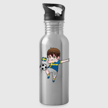 Dab Dabbing Soccer Boy World Cup Sweden Gift - Water Bottle
