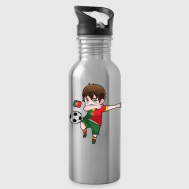 Dab Dabbing Soccer Boy World Cup Portugal Gift - Water Bottle