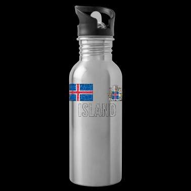 Iceland Soccer Jersey Vintage World Football Cup - Water Bottle
