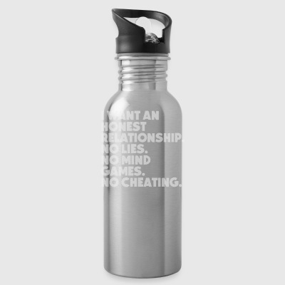 I want an honest Relationship - Water Bottle