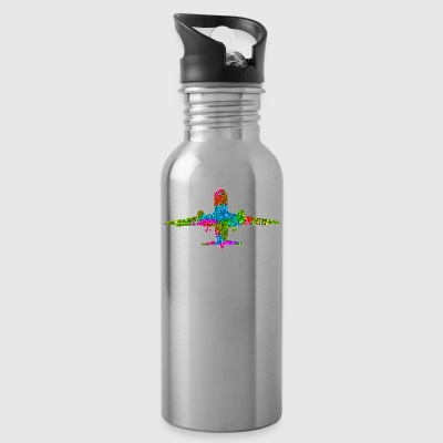 Colorful Jet Plane - Water Bottle
