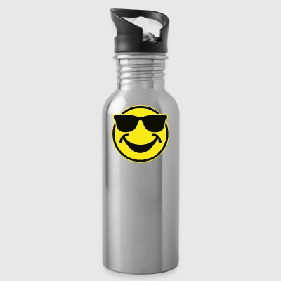 COOL yellow SMILEY BRO with sunglasses - Water Bottle
