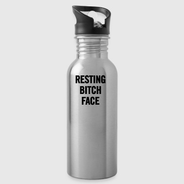 Resting Bitch Face Black - Water Bottle