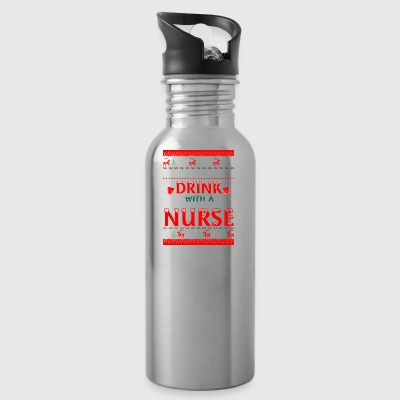 Safety First Drink With A Nurse Christmas Xmas - Water Bottle