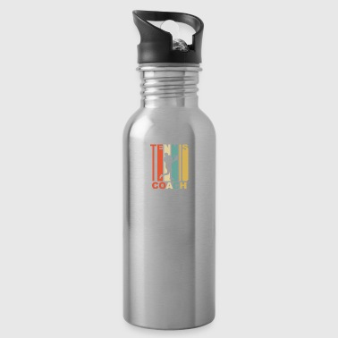Vintage Tennis Coach Graphic - Water Bottle