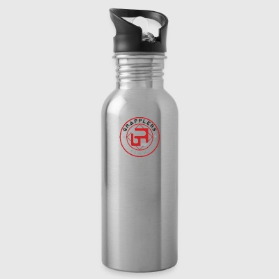 Light 001 grapplersfight LOGO Back - Water Bottle