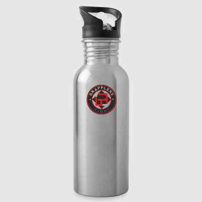 Dark 001 grapplersfight LOGO Back - Water Bottle