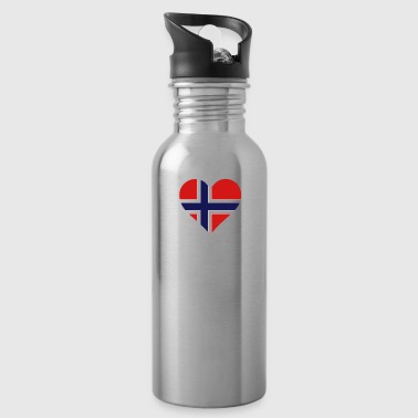 A Heart For Norway - Water Bottle