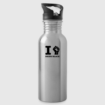 love being black design - Water Bottle